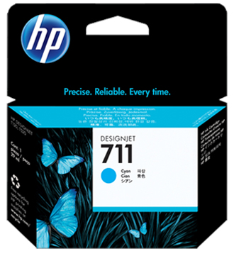 Набор картриджей HP DesignJet 711 Cyan 3x29 мл (CZ134A) подставка hp 24in stand for designjet t120 t520 b3q35a