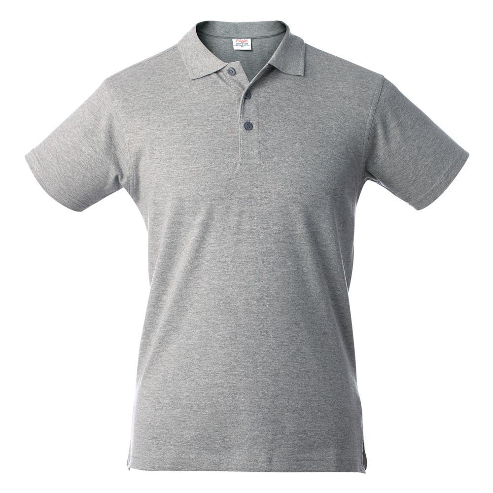 Рубашка поло мужская SURF серый меланж, размер XL фото