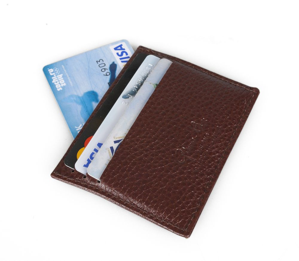 Футляр для кредитных карт, коричневый футляр для банковских карт dimanche