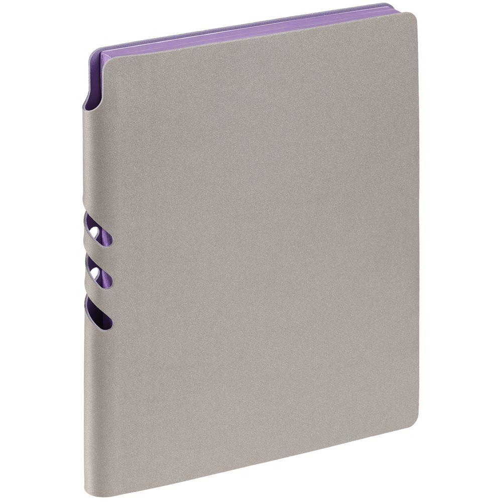 Ежедневник Flexpen, недатированный, серебристо-фиолетовый
