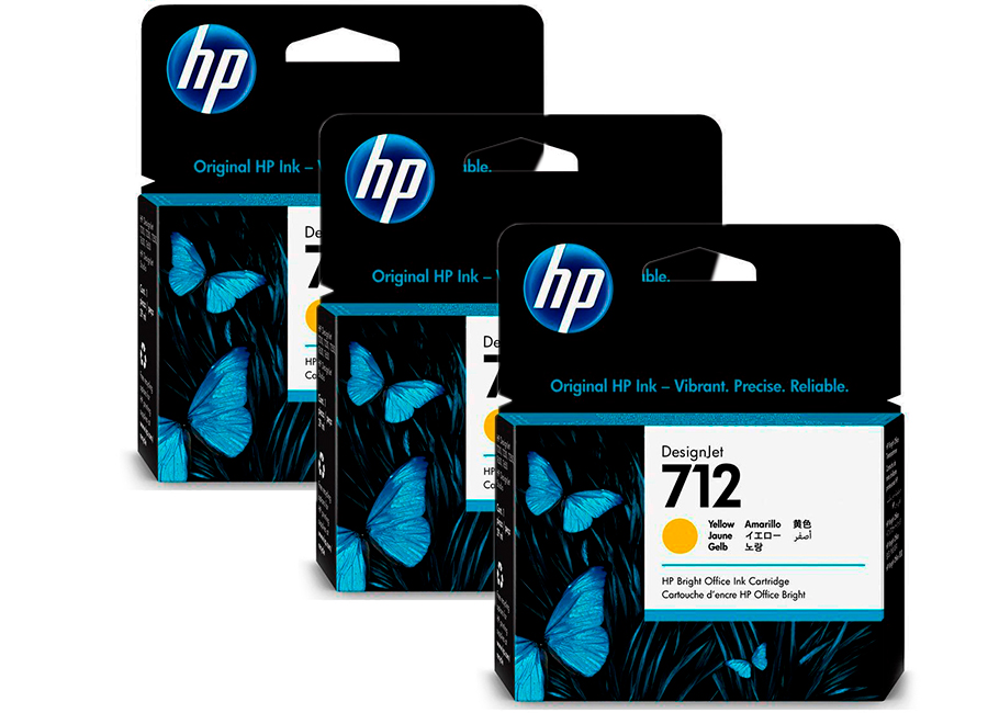 Фото - Набор картриджей HP DesignJet 712 Yellow 3x29 мл (3ED79A) набор картриджей hp c5095a