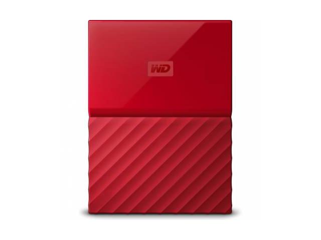 Фото - Внешний жесткий диск Western Digital My Passport 1ТБ (WDBBEX0010BRD-EEUE), красный жесткий диск western digital my passport