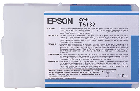 Фото - Epson T6132 Cyan 110 мл (C13T613200) epson t9132 cyan 200 мл c13t913200
