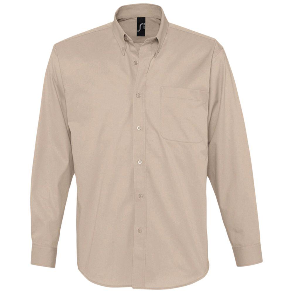 Рубашка мужская с длинным рукавом BEL AIR бежевая, размер L