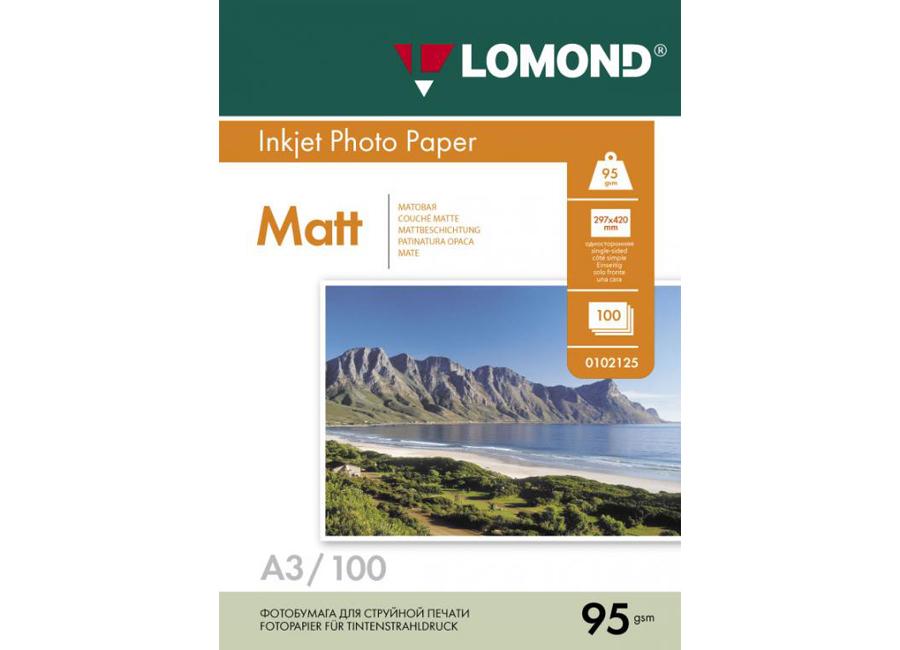 Фото - Lomond для струйной печати, A3, 95 г/м2, 100 листов, односторонняя, матовая (0102129) lomond для струйной печати a2 100 г м2 25 листов двусторонняя матовая матовая 0102137