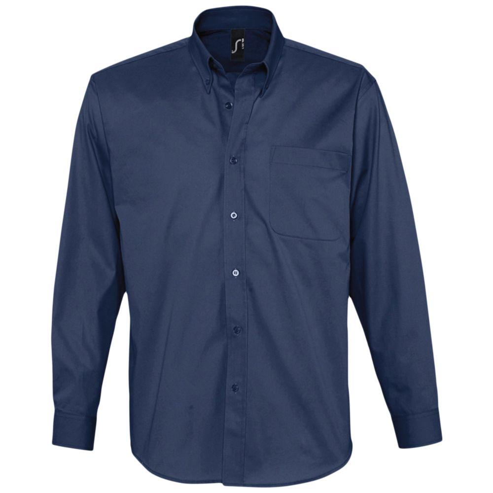 Рубашка мужская с длинным рукавом BEL AIR темно-синяя (кобальт), размер M