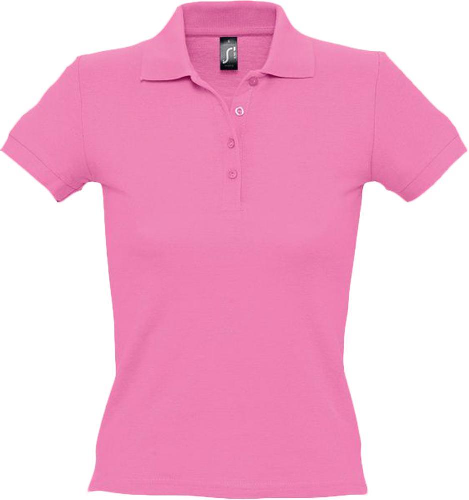 """Рубашка поло женская PEOPLE 210 """"розовая орхидея"""", размер S фото"""