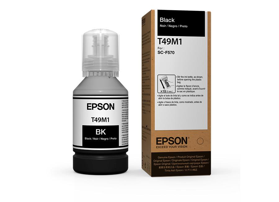 Фото - Бутыль с чернилами Epson T49N1 Black, 140 мл (C13T49N100) бутылка для воды my bottle градиент в мешке цвет черный 500 мл