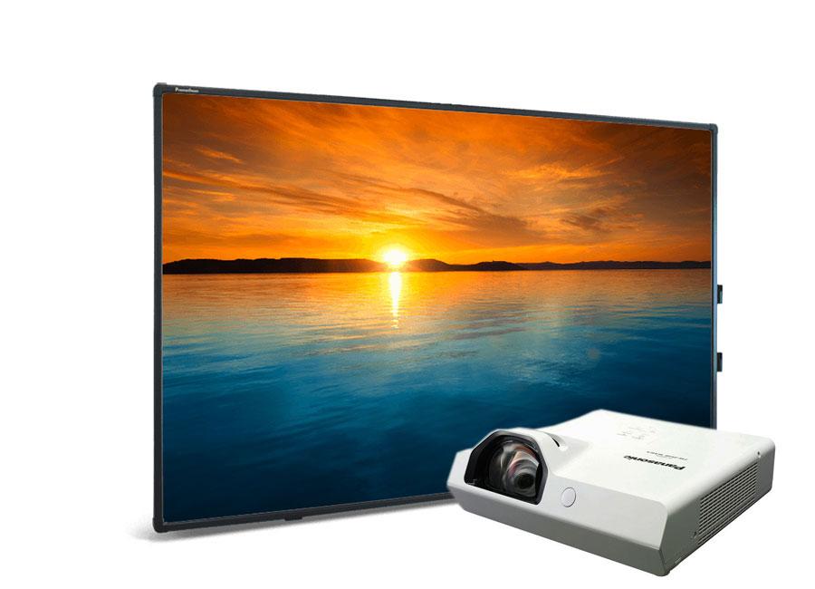 """Интерактивная доска Promethean ActivBoard Touch 88"""" Dry Erase 10 касаний, ПО ActivInspire в комплекте с проектором Panasonic PT-TW370 и настенным креплением"""