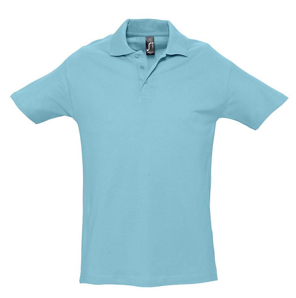 Рубашка поло мужская SPRING 210 бирюзовая, размер S