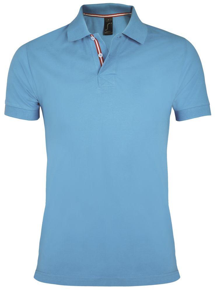 Рубашка поло мужская PATRIOT 200, голубая, размер L недорого