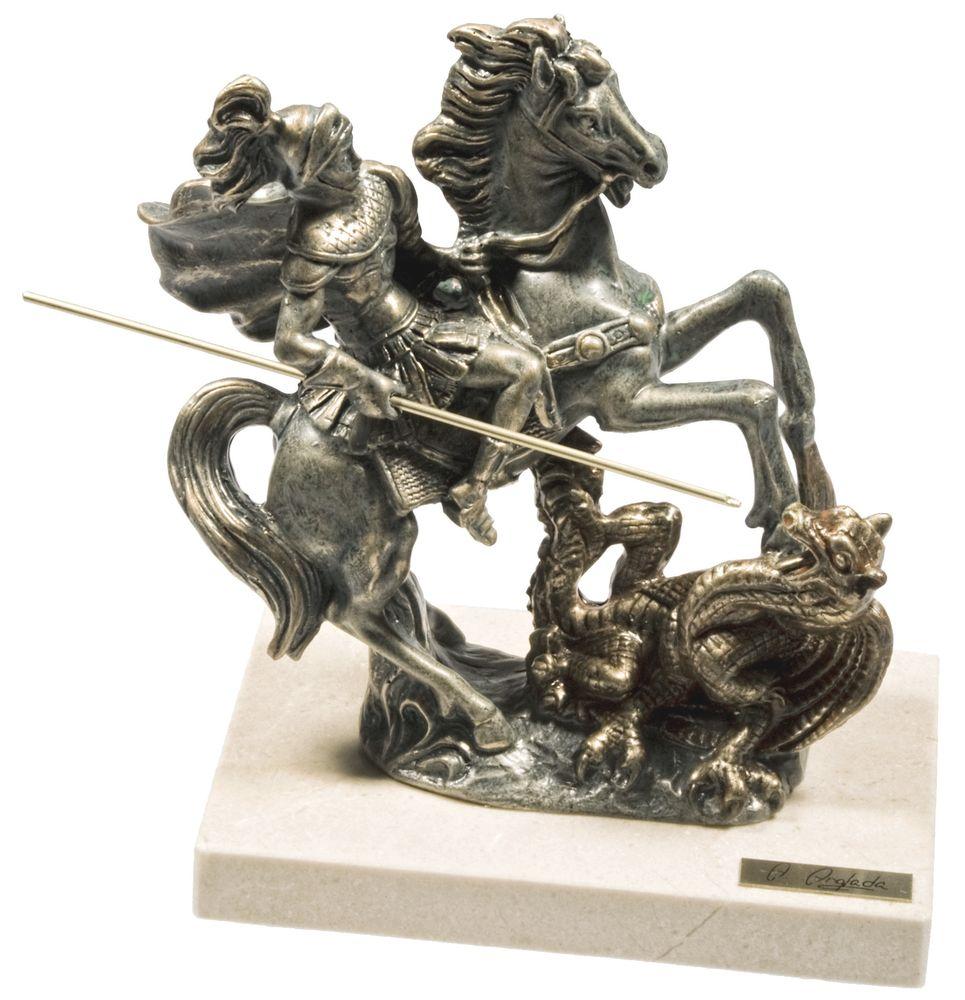 Скульптура «Георгий Победоносец», малая скульптура рыба ангел stepper
