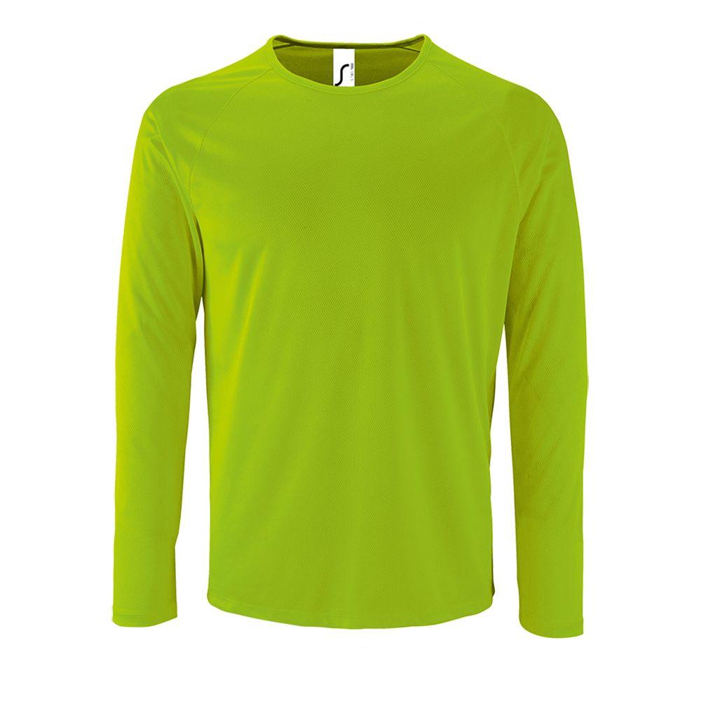 Футболка с длинным рукавом SPORTY LSL MEN неоново-зеленая, размер 3XL