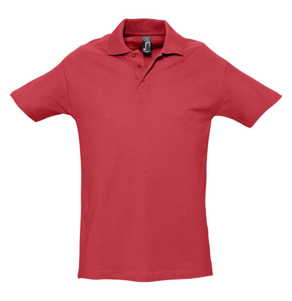 Рубашка поло мужская SPRING 210 красная, размер 3XL