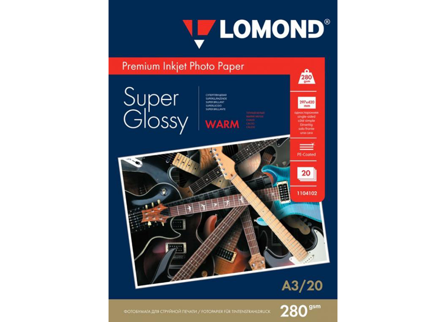 Фото - Lomond для струйной печати, A3, 280 г/м2, 20 листов, односторонняя, суперглянцевая (1104102) printio плакат a3 29 7×42 космос космонавт