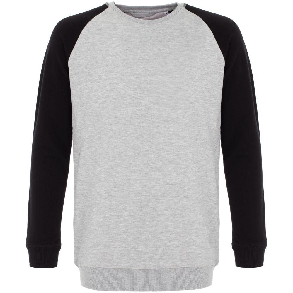 Свитшот Kulonga Raeglan мужской Bicolor, серый меланж с черным, размер 3XL