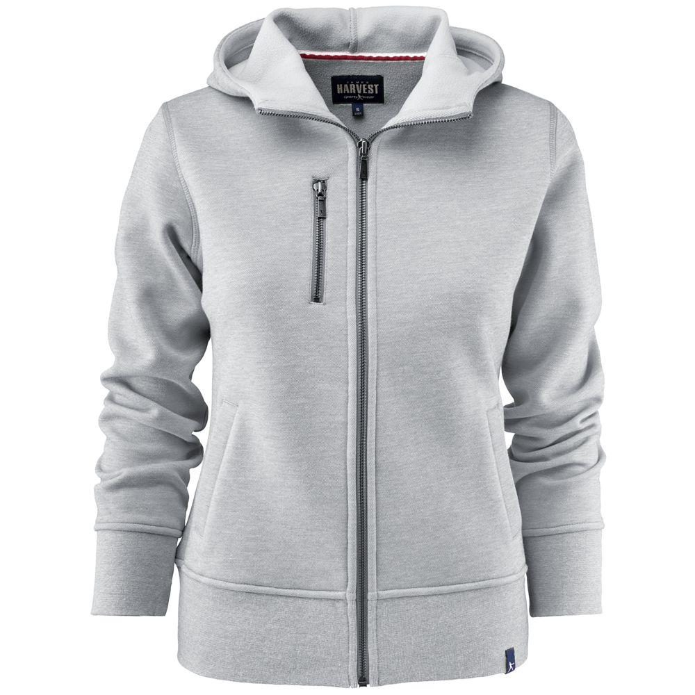 Толстовка женская PARKWICK серый меланж, размер S толстовка женская oodji ultra цвет серый белый 16907003 1 48338 2310z размер xxs 40