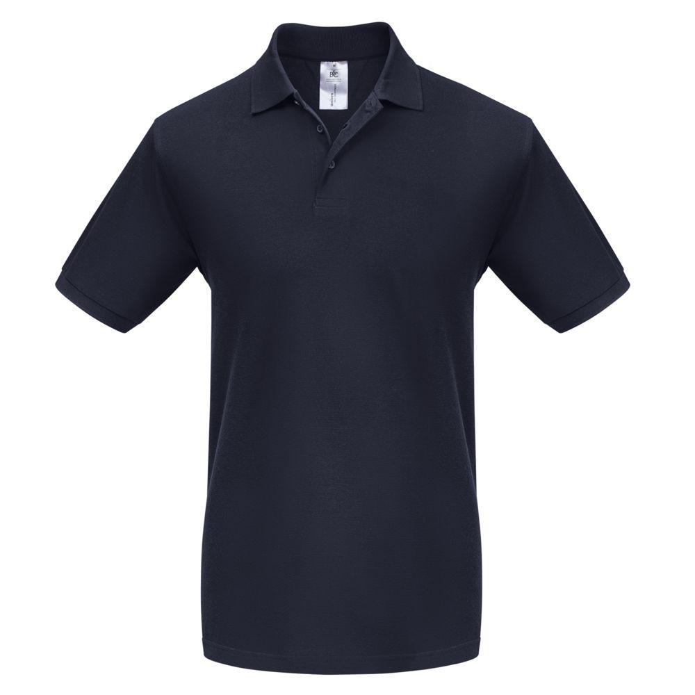 Фото - Рубашка поло Heavymill темно-синяя, размер M рубашка поло heavymill серый меланж размер xl