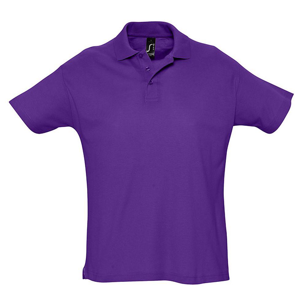 цена Рубашка поло мужская SUMMER 170 темно-фиолетовая, размер M онлайн в 2017 году
