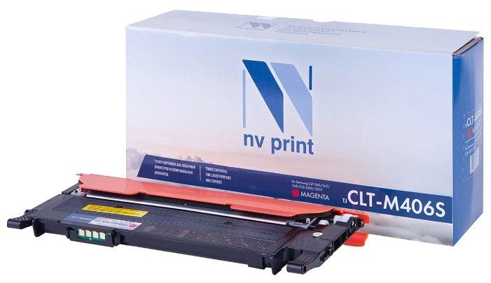 Картридж NV Print CLT-M406S M картридж nv print clt k504s