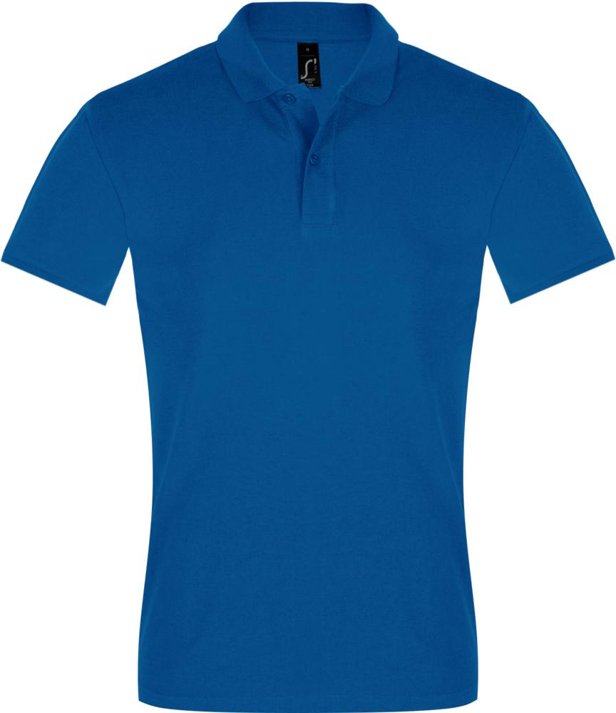 Рубашка поло мужская PERFECT MEN 180 ярко-синяя, размер S фото