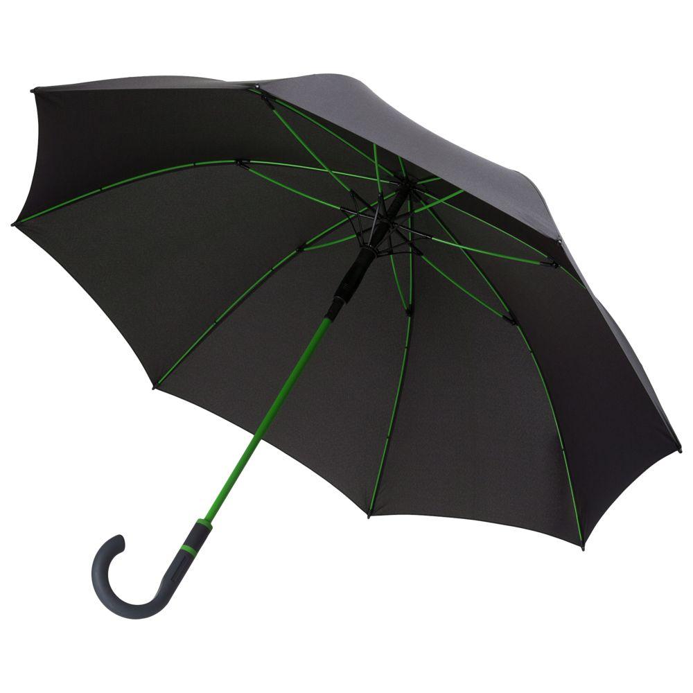 Зонт-трость с цветными спицами Color Style, зеленое яблоко фото