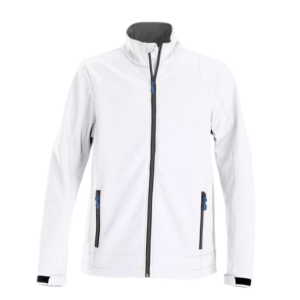 Куртка софтшелл мужская TRIAL белая, размер XL фото