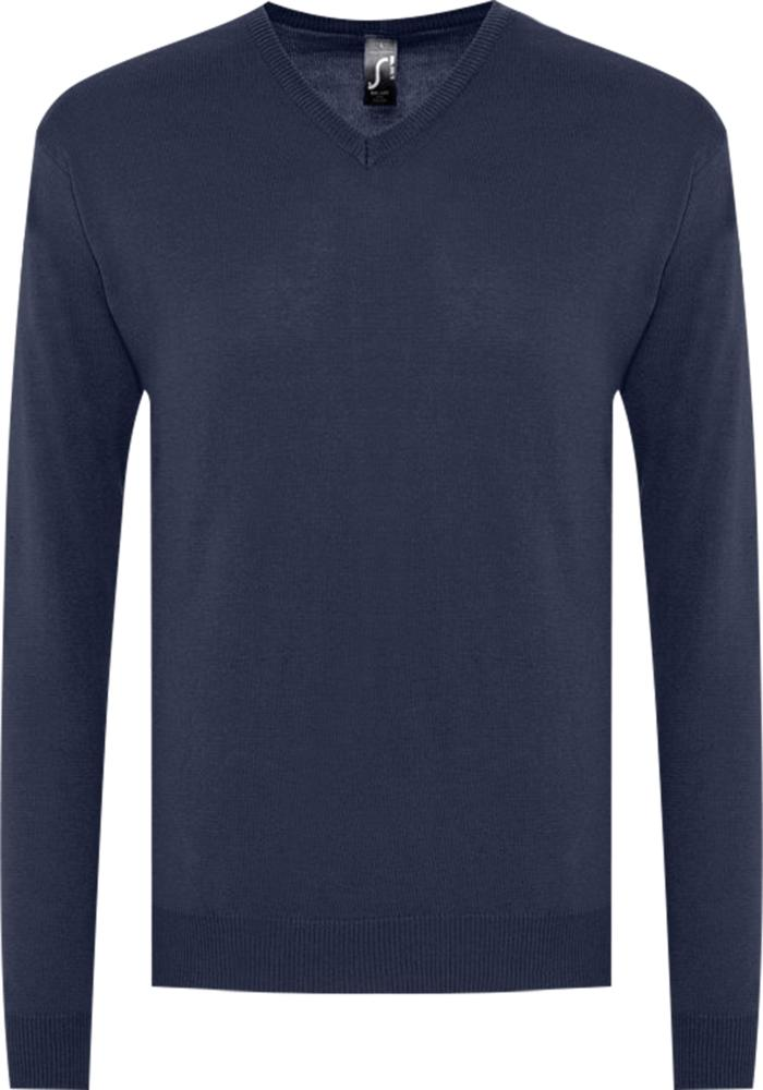 домашний комплект мужской vienetta s secret первый брюки кофта цвет темно синий 703003 0000 размер m 46 Свитер мужской GALAXY MEN темно-синий, размер S