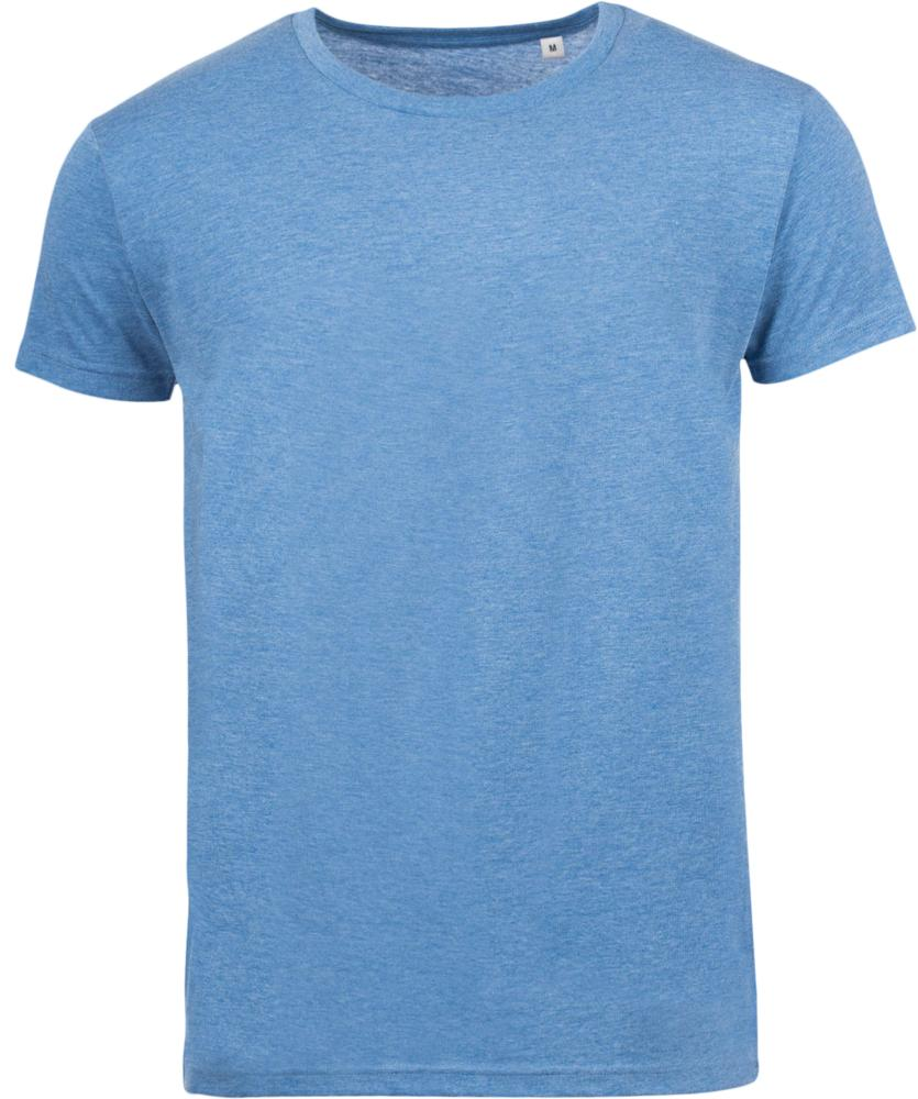 цена Футболка мужская MIXED MEN голубой меланж, размер XXL онлайн в 2017 году