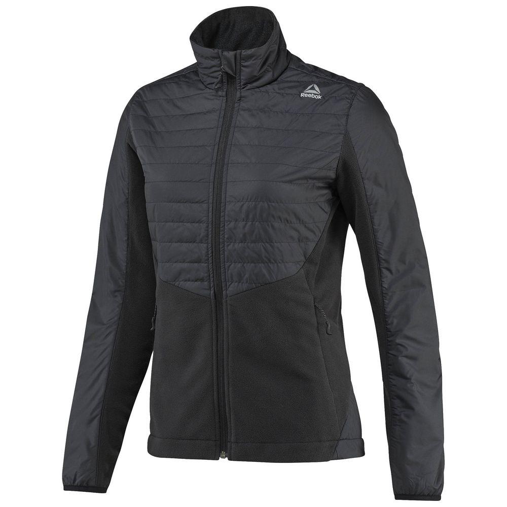 Куртка женская Outdoor Combed Fleece, черная, размер XL фото