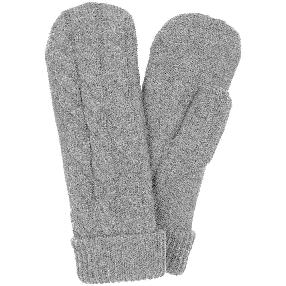 Варежки Heat Trick, светло-серый меланж, размер S/M
