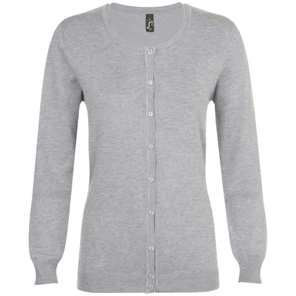 Кардиган женский GRIFFIN серый меланж, размер M юбка sela цвет серый меланж skk 118 887 7413 размер m 46