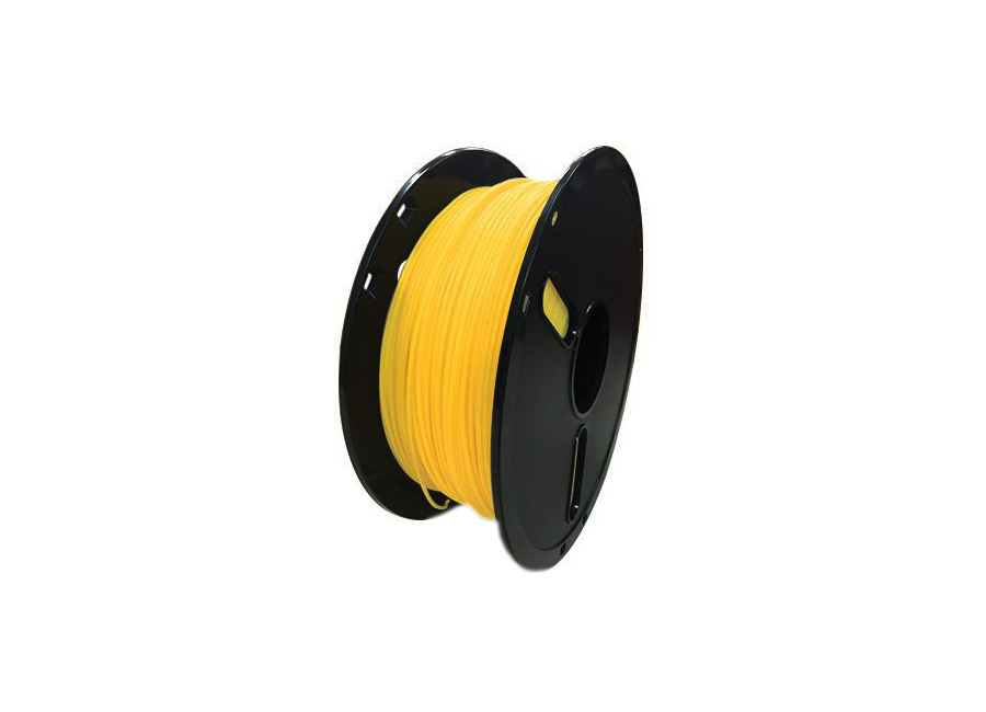 Катушка PLA-пластика Premium 1.75 мм 1 кг., полупрозрачная желтая