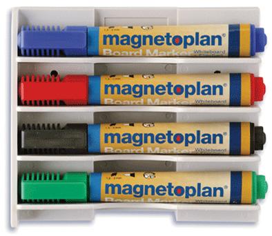 Фото - Магнитный держатель Magnetoplan для 4-х маркеров, горизонтальный, белый magformers магнитный конструктор space wow magformers