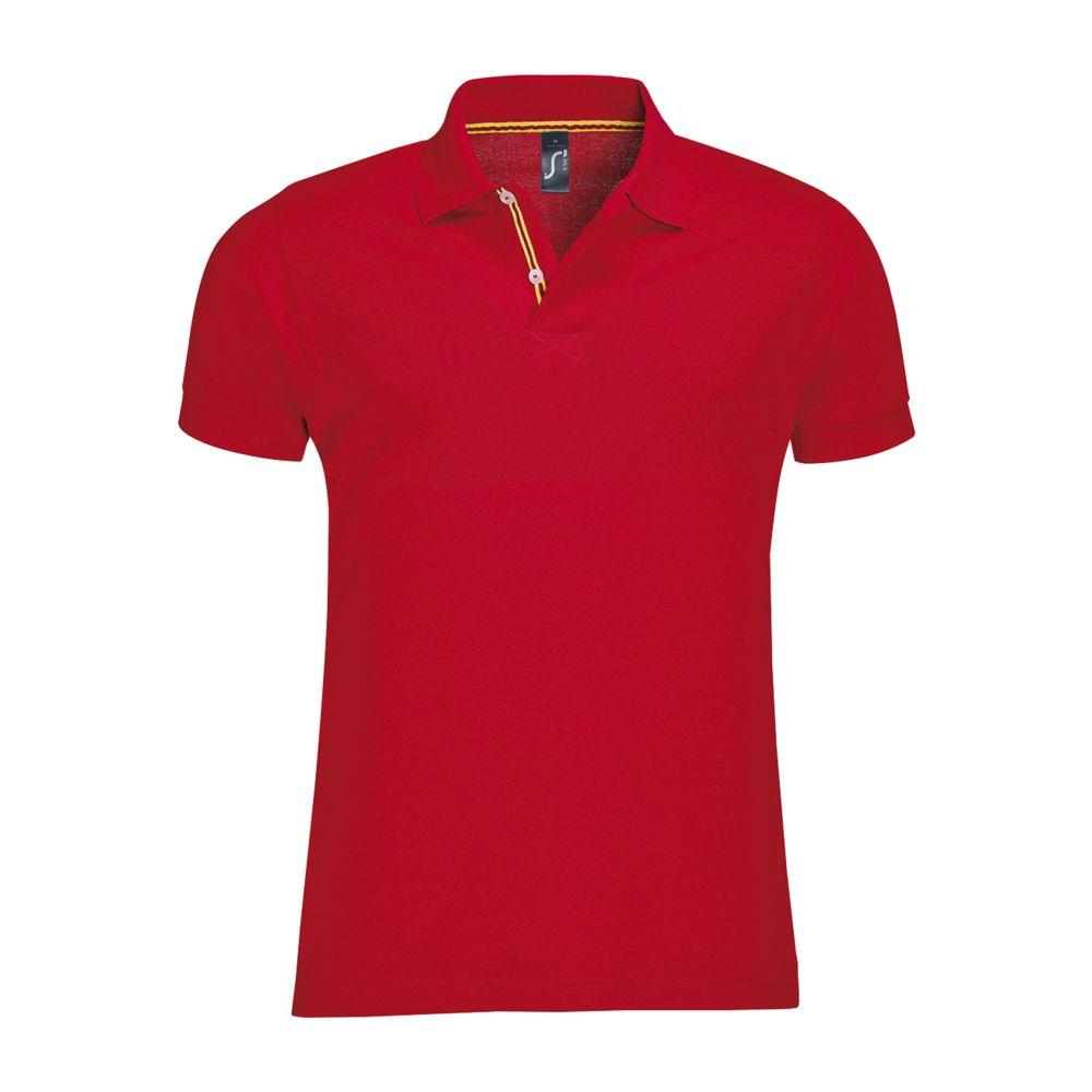 Рубашка поло мужская PATRIOT красная, размер L недорого