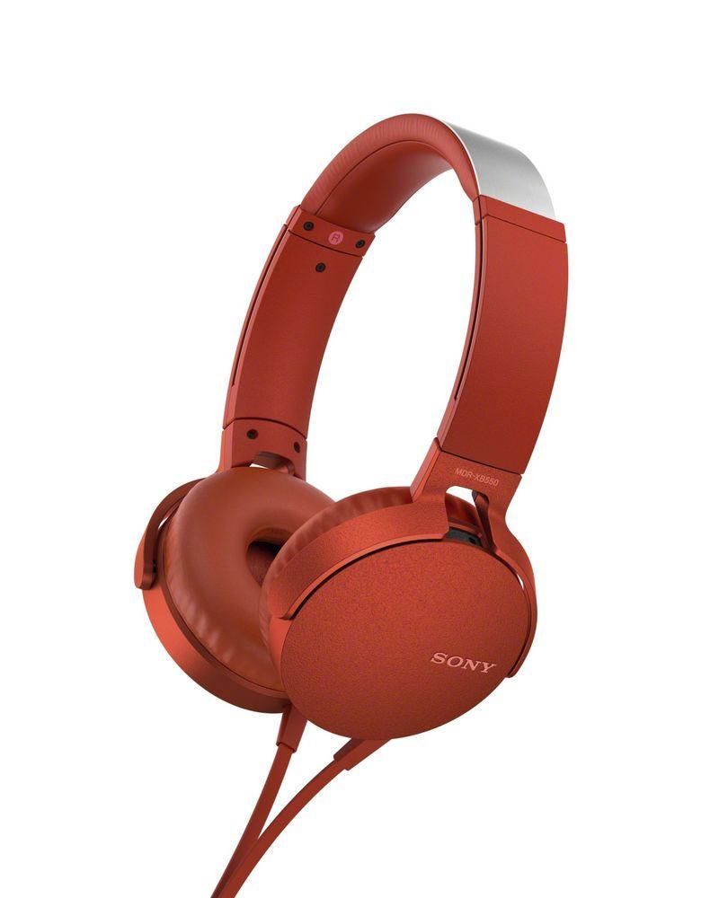 Фото - Наушники Sony XB-550, красные smart sdc 550