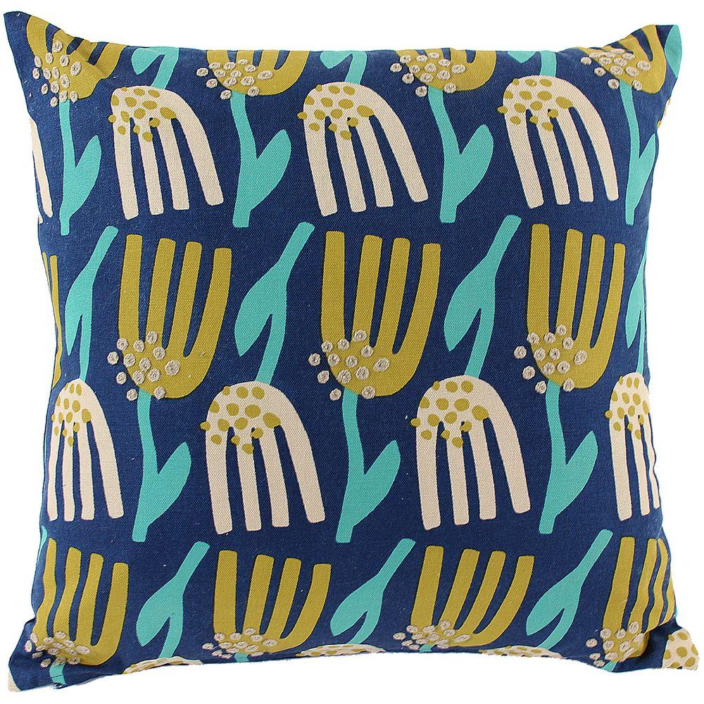 Чехол на подушку Lazy flower, квадратный, темно-синий темно синий стиль pu кожаный бумажник держателя карты откидная крышка чехол дляsamsung a510