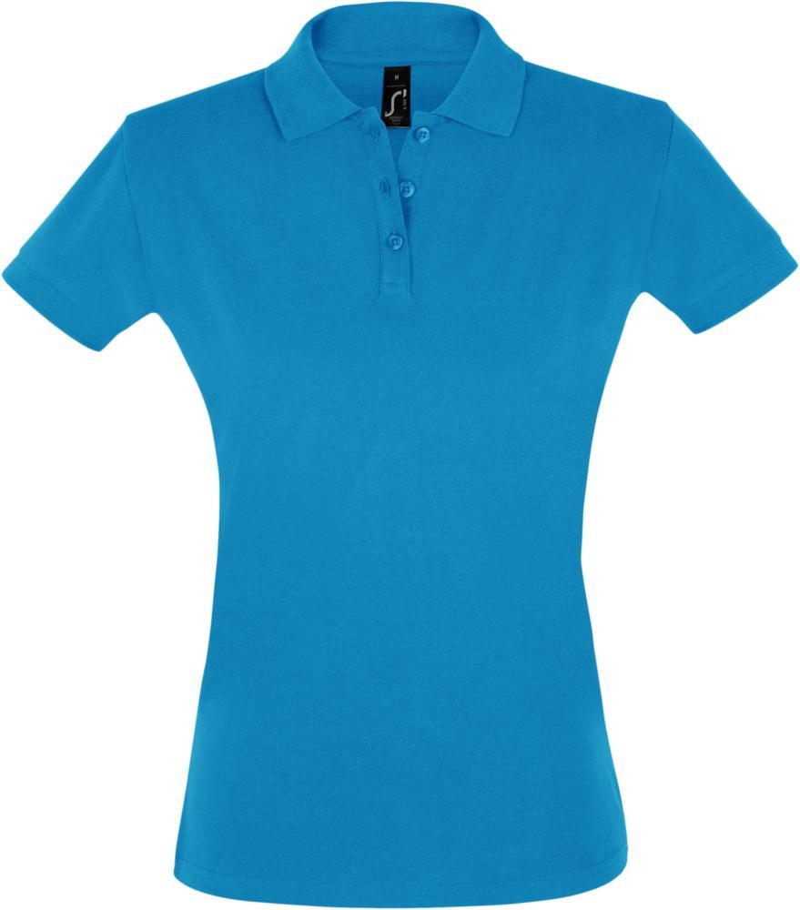 Рубашка поло женская PERFECT WOMEN 180 бирюзовая, размер XL рубашка поло женская perfect women 180 серый меланж размер xl