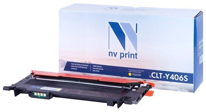 Картридж NV Print CLT-Y406S Y