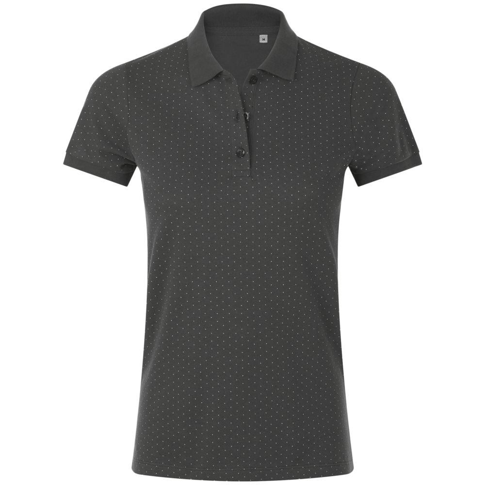Рубашка поло женская BRANDY WOMEN темно-серый с белым, размер M цена 2017