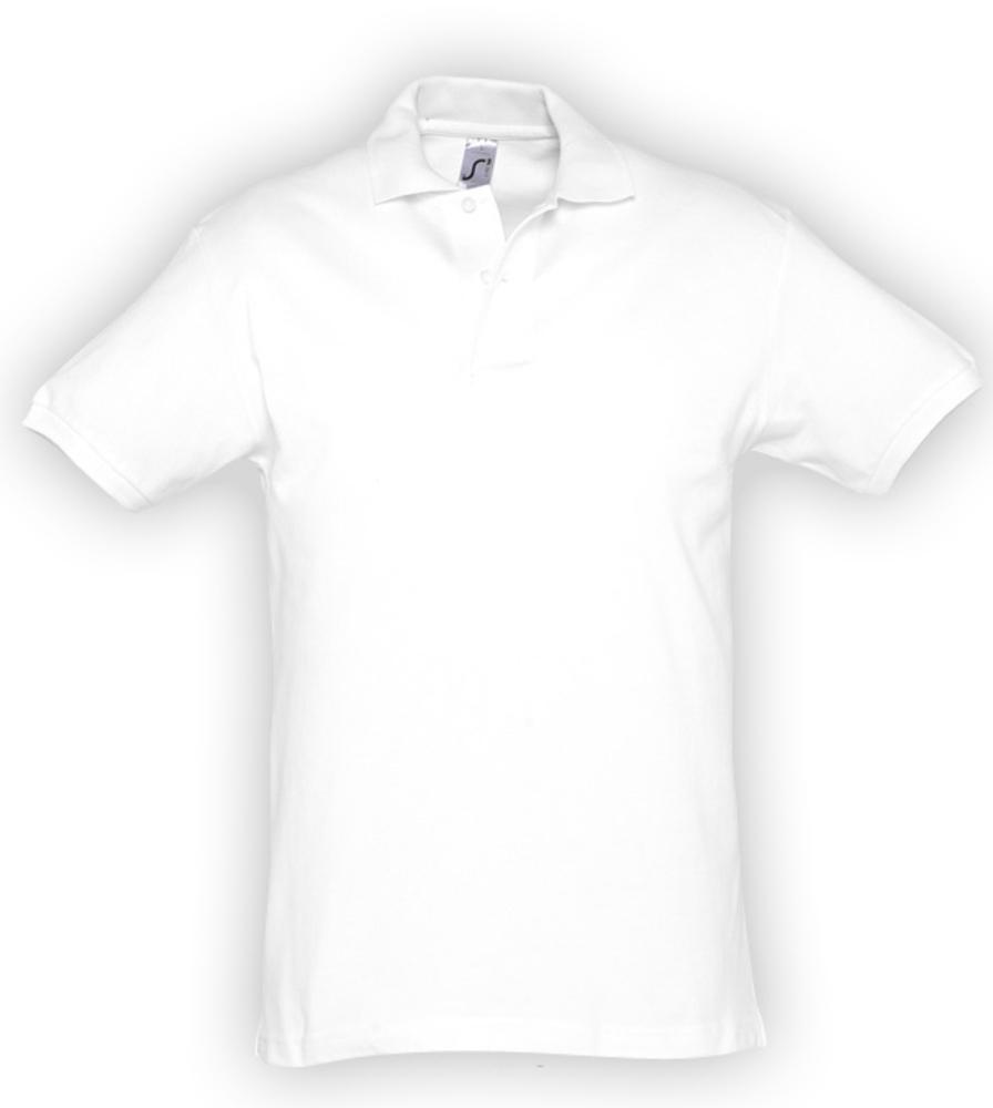 Рубашка поло мужская SPIRIT 240 белая, размер M