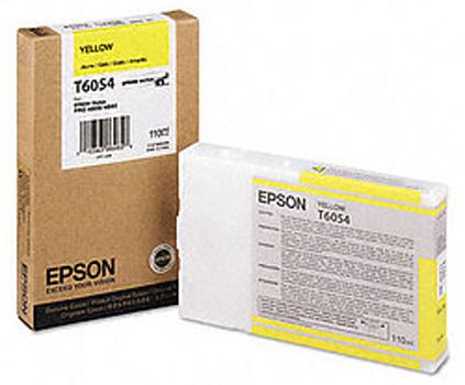 Epson T6054 Yellow 110 мл (C13T605400) epson t5804 yellow 80 мл c13t580400