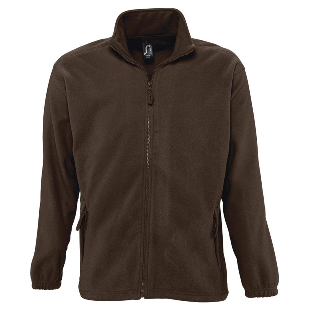 Куртка мужская North коричневая, размер S
