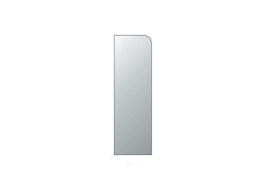 Прямой боковой сегмент для настольного защитного экрана, 61x25 см, 3 мм