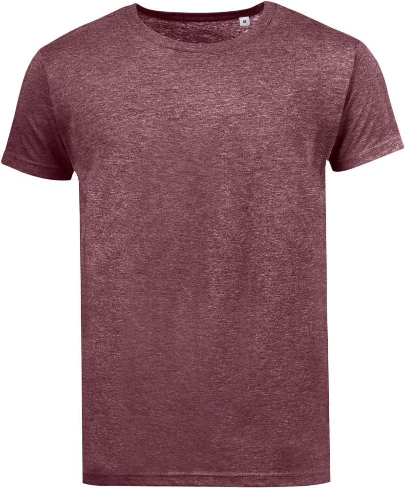 Футболка мужская MIXED MEN бордовый меланж, размер L