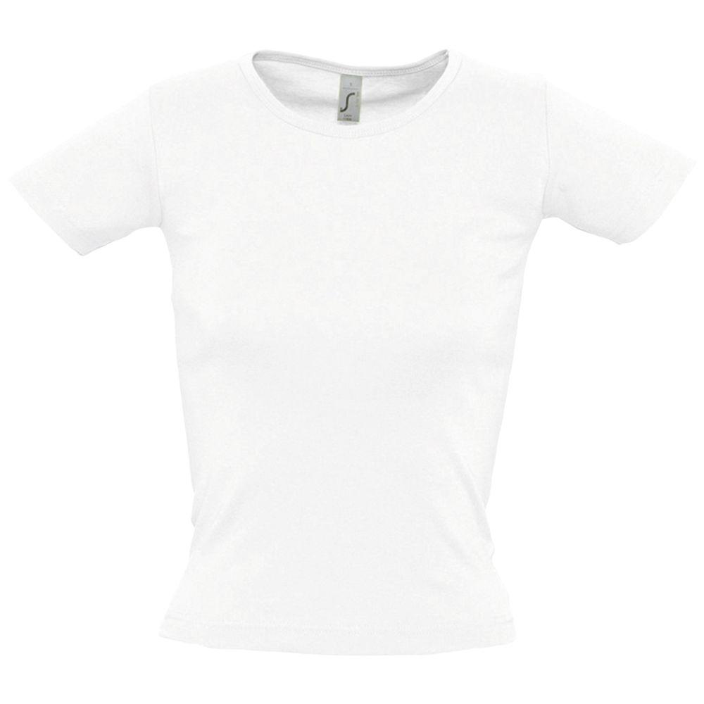 Футболка женская с круглым вырезом LADY 220 белая, размер XL