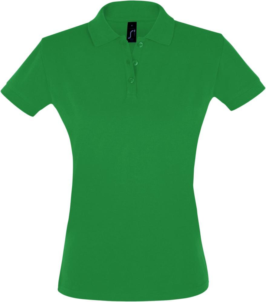 Рубашка поло женская PERFECT WOMEN 180 ярко-зеленая, размер S рубашка поло женская perfect women 180 серый меланж размер s