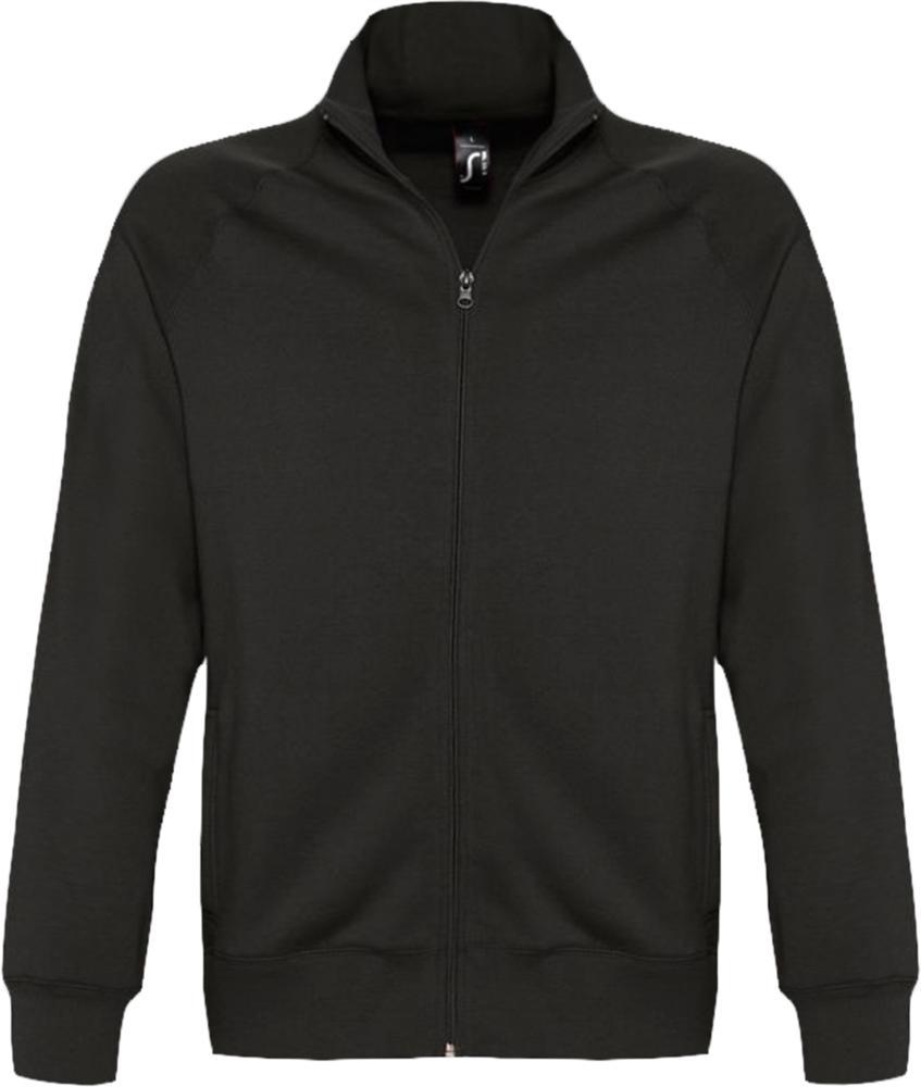 Толстовка мужская на молнии SUNDAE 280 черная, размер XXL