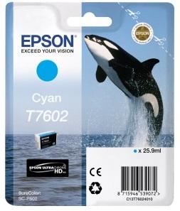 Фото - Контейнер с голубыми чернилами Epson T7602 для SC-P600 (C13T76024010) штора для ванной wasserkraft sc 10101 180x200
