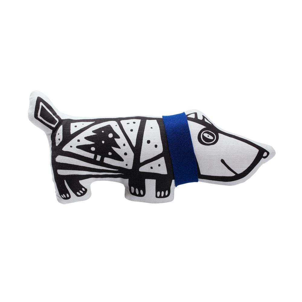 Игрушка «Собака в шарфе», малая, белая с синим копилкаадам и ева малая белая с золотом 29х18см 4585358